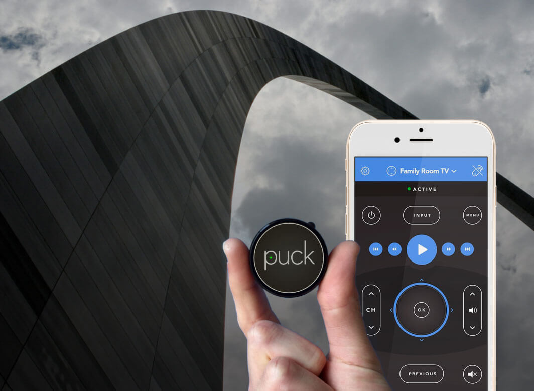 St Louis Arch with Puck
